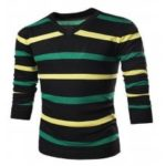 Men Stylish Stripe Knitting Sweater