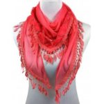 Vintage Rose Embellished Silky Long Scarf