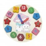 Wooden Puzzle Digital Geometry Clock Cognitive Toy