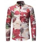 Retro Leaves Motifs Shirt