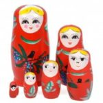 Russian Nesting Matryoshka Dolls Toy Decoration 6pcs
