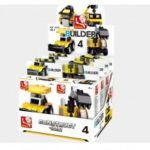 Sluban Building Blocks Educational Kids Toy Assorted Construction Vehicles 8PCS  ( 322 Piece )