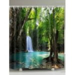 Waterfall Natural Scenery Print Waterproof Shower Curtain