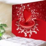 Heart Print Tapestry Valentine's Day Wall Hanging