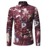 Long Sleeved Shirt Printing Shirt D Leisure