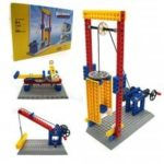 Lifting Hoisting Pulley Group Engineering Mechanical Science Learning Education Building Blocks Toy 68pcs