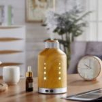 Zuoqi Wood Grain Style Aroma Diffuser LED Colorful Light Aroma Essential Oil Diffuser