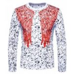 T-shirt with Dots and Wings Motifs