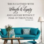 Inspirational Proverbs Patterned Wall Sticker