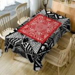 Geometric Print Waterproof Dining Table Cloth