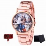 ZhouLianFa Top Brand Fashion Rose Gold Quartz Watch with Matching Beads and Beads