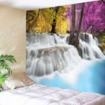 Natural Waterfall Landscape Print Wall Tapestry