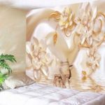 Flower and Deer Print Wall Tapestry