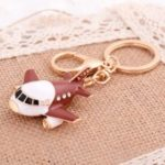 Korean Version Creative Aircraft Car Key Ring Alloy Bag Pendant Hot Girl Decorative Pendant