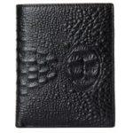DANJUE Men Wallets Genuine Leather High Quality Alligator Short Purse with Black Brown Purses Brand Card Holder