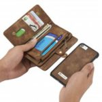 CaseMe for iPhone 7/8 Business Style Premium Multifunction Wallet Protective Phone Case with Safety Zipper Pocket