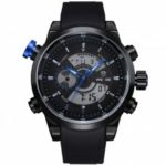 WEIDE Sport Analog Digital Dual Time Zones Display Military Watches