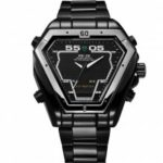 WEIDE Irregular Men Military Analog Digital LED Watch 3ATM Bracelet Multifunction Sports Watch