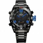 WEIDE Male Wristwatches Quartz LED Movement Analog Digital Date Alarm Display Watch