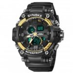 SYNOKE Men Sports Watches Boy Quartz Wristwatch Analog Digital Clock Male Waterproof LED Watch