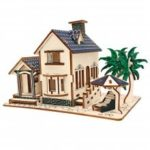 DIY 3D Wooden Villa Puzzle Intelligence Model Toy