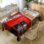 Telephone Booth Big Ben Print Table Cloth