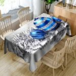 Christmas Balls Print Waterproof Table Cloth