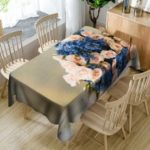 Flowers Printed Waterproof Table Cloth