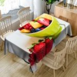 Strawberry Fruit Print Waterproof Table Cloth
