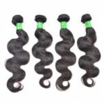Brazilian Body Wave Unprocessed Real Human Hair Extensions Natural Black Color for Women 3pcs