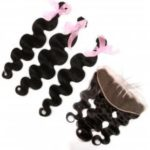 Body Wave 100 Percent Brazilian Virgin Hair Weave 3pcs with 1pc Lace Frontal