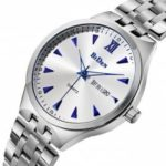 BIDEN B0011 Men Business Stainless Steel Band Quartz Watch