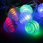 Transparent Multi Fold Ball String Lights Fairy LED Home Decor Light Home Garden of Battery Powered RGB 1.65M 10 LED
