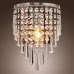 European Simplified Crystal Wall Lamp LED Stair Living Room Bedroom Bedside Aisle K9 Crystal