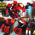 DECOOL 7110 248Pcs Block Super Heroes The Hulk Buster Smash