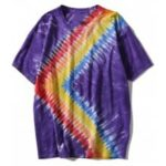 Casual Short Sleeve Rainbow Tie Dye Tee