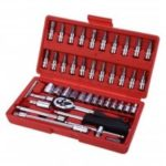 Ar Repair Tool 46PCS 1/4-INCH Socket Set Car Repair Tool Ratchet Torque Wrench Combo Tools Kit Auto Repairing Tool