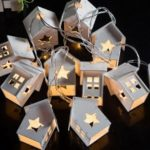 Wood House Star String Lights Fairy LED Home Decor Light Home Garden of Battery Powered 1.65M 10 LED