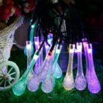 GMY Solar Raindrop String Lights 30 Led Indoor Outdoor Water Drop Lights For Garden Party Fence Pat