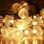 GMY Lighting 30 Led Solar Crystal Ball Christmas Light Strip Garden Holiday Party Decorate 28.3 Feet 2V