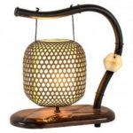 Chinese Classical Garden Bamboo Wooden Lamps
