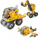 DIY 3 in 1 Education 3D Building Blocks Puzzle Kids Mechanical Engineering Construction Truck Technical Vehicle