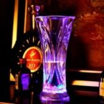 Luminescent Glass Water Sensing Multicoloured Flash Square Juice Cup