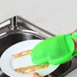 Versatile Silicone Dishwashing Glove Heat Insulation Cleaning Pad