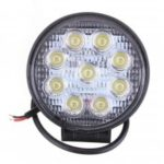 27W Car 9LED Round Work Light Bright Lamp White for Camp Truck ATV