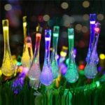 Solar String Light 30 LED Waterproof Water Drop Fairy Lamp Outdoor Lighting Garden Holiday Party Decoration