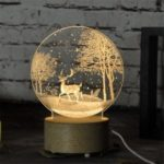 Creative 3D LED Night Light USB Button Switch Christmas Atmosphere Desk Lamp Home Decoration