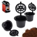Refillable Coffee Capsule Cup Filter 3pcs   Stainless Steel Reusable Refilling Strainer for Nespresso Machine KEURIG 2.0 Coffeemakers