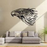 DSU Eagle Side Face Silhouette Simple Art Wall Stickers