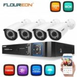 FLOUREON 8CH 1080N CCTV 5 IN 1 TVI AHD DVR + 4 X 3000TVL 2.0MP Bullet Camera Security Kit EU